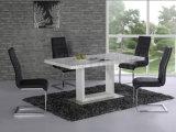 家具の白いダイニングテーブル(NK-DTE309)を食事する現代楕円形デザイン