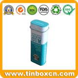 معدن مستطيلة صمغ وعاء صندوق لأنّ نعناع قصدير, سكّر نبات قصدير صندوق