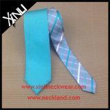 Cravate dégrossie réversible tissée par polyester de mode d'homme double