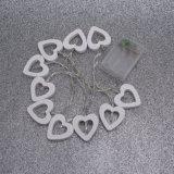 Indicatore luminoso decorativo a forma di del cuore amoroso di legno LED (26-1P1614)