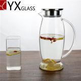 2L 큰 양 냉수 투수 또는 냉수 유리 Jar/ODM OEM 찬 차 주스 젖빛 유리 단지