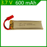 enchufe rojo alejado teledirigido 721860 de Jst de la batería de litio del eje 3.7V 600mAh del platillo volante de los aviones de 3.7V 600mAh