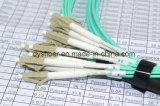 prova 3D MTP/MPO di 100% 8 al cavo di uscita/sblocco dell'assemblea plenaria di X LC 40gbe Om3/Om4