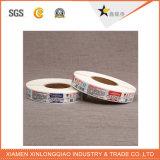 Ropa del paño que arropa la etiqueta engomada tejida ropa modificada para requisitos particulares de la impresión de la escritura de la etiqueta de la tela