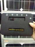 Het Draagbare Zonnestelsel van nieuwe Producten met LEIDENE het Lichte 3W 9V Draagbare ZonneVentilator & Systeem van de Verlichting
