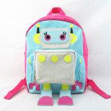 الفتيات الوردي روبوت الجدة البوليستر حقيبة الظهر