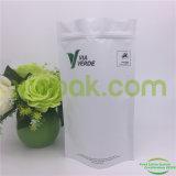 Papier d'emballage blanc d'impression faite sur commande Doypack avec le dessus de fermeture éclair