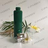 Frasco mal ventilado dos PP do plástico verde com o tampão desobstruído para o empacotamento do cosmético (PPC-PAB-036)