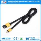 Qualité chargeant le câble de 8 bornes pour le câble de caractéristiques de téléphone mobile