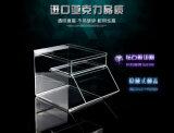 Rectángulo de almacenaje de acrílico transparente del estilo del vector