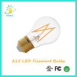 Poder más elevado LED del filamento A15 6W E26/E27 Dimmable de Edison LED