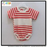 Combinaisons nouveau-nées de collet rond d'habillement de bébé d'impression de piste