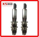 2inch o fluxo pneumático sanitário higiênico inoxidável do aço Ss304 desvia válvulas do assento