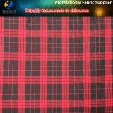 Tessuto tinto rosso/nero britannico del filato di poliestere, poli tessuto del tessuto di seta naturale