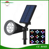 4 LEIDENE Hoge Regelbare RGB Kleur Brigntess die de Zonne ZonneSchijnwerper van het Landschap van de Vlek van de Lamp van de Muur van de Tuin van het Gazon Lichte Openlucht veranderen