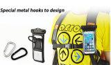 Bolso impermeable al aire libre Universale de la cubierta del teléfono celular del PVC que acampa con el brazal del gancho de leva para el teléfono elegante 5.5inch (WB-V4)