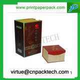 Rectángulo de regalo modificado para requisitos particulares alta calidad de la cartulina de la manera para el empaquetado del vino