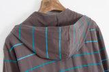 方法メンズ衣服のための偶然のしまのあるCVCファブリック羊毛Hoody