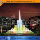 Fontaine interactive de musique contemporaine urbaine de construction