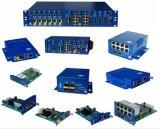 Conversor controlado gigabit de 4 media da fibra óptica