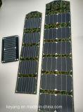 Carregador de energia solar portátil de 40W com 2 carregadores USB