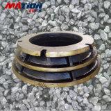 Alte parti del frantoio del cono dell'acciaio di manganese