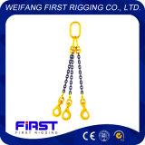 Imbragatura a catena dei piedini dell'acciaio legato del grado 80 tre