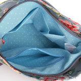 Hombro de PVC impermeable lienzo British Retro Floral Bolsas Crossbody Bolsa
