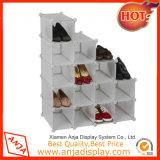 Cubo de madera del zapato estante de exhibición