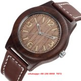 Montre Mouvement en Quartz en Bois de Mode Simple Fs448