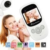 Leva audio de la grabación video de 2.4GHz Digitaces del color del LCD del bebé del monitor de la visión nocturna sin hilos de la cámara