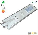 Ce 50W & jardim do diodo emissor de luz do sensor de PIR/luz de rua solares Integrated Certificated RoHS