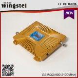 2017 новая конструкция GSM 900/2100 MHz 2g 3G 4G удваивает репитер сигнала полосы передвижной