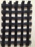 80/30kn Geogrid per il poliestere diLavoro a maglia Geogrid di concentrazione ad alta resistenza del fondo stradale