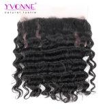 "Cabelo frontal do Virgin do laço cheio de Yvonne 360, fechamento frouxo brasileiro do Frontal do laço do cabelo humano da onda 22.5 "" X4 """