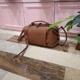 حقيقيّة جلد أنثى حقيبة يد ليّنة حمل [شوولدر بغ] مع هدب زخرفة [إمغ5091]
