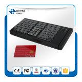 Teclado programable 2017 de la posición de los mini claves de la membrana 66 del USB con el programa de lectura de la tarjeta inteligente (KB66)