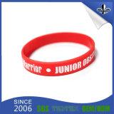 Wristband rosso e blu della tassa del campione libero del silicone (HN-GJ-15716)