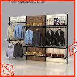 Aparatos de exhibición de la tienda de ropa de madera, diseño de la tienda de ropa de gama alta