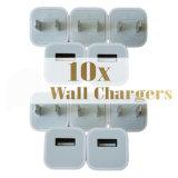 Wholesaleusbの壁の充電器のApple A1385のiPhoneのために新しい充満立方体のアダプタープラス5 6