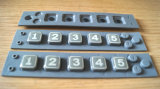 Numerischer Button/OEM numerischer Tasten-/Silikon-Gummi-Gummitastaturblock mit Plastikdeckel (P+R)