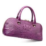Saco de Tote do crocodilo da bolsa do desenhador do couro genuíno das mulheres