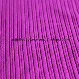 低下の針が付いている縞の羊毛ファブリック