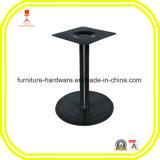 Base redonda do pé da tabela de suporte do estilo do disco do ferro de molde para o preto da altura da barra