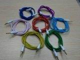 кабель 3.5mm стерео Braided тональнозвуковой с Multi цветом