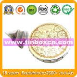 Круглая коробка олова с щелчковой крышкой, щелчковым верхним Mint оловом