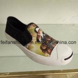 Zapatos unisex de la inyección de la lona del nuevo diseño, zapatos de lona ocasionales al por mayor de China (FFZL1031-06)