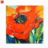 Pintura al óleo anaranjada de las tonalidades del arte animado de las flores