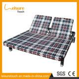 Silla de salón posterior ajustable del asiento de amor del jardín del mimbre/de la rota de los muebles del Daybed al aire libre de la playa