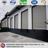 O armazém/oficina projetados pré-fabricados da construção de aço/verteu